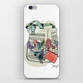 Squiggle Bird Bag iPhone Skin