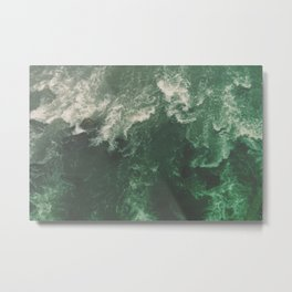 Green Seaside Metal Print