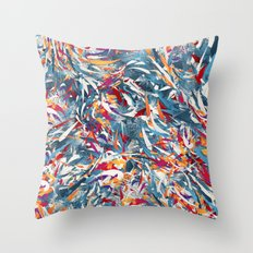 Excited Colours Throw Pillow