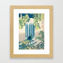 Katsushika Hokusa - Yoro Waterfall in Mino Province Framed Art Print