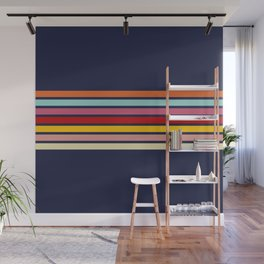 Barama - Classic Colorful Retro Stripes Wall Mural