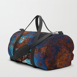Sapphire & opal textures Duffle Bag
