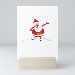 Dabbing Through The Snow, christmas, xmas Mini Art Print