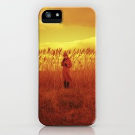Girl in the Reeds on Chincoteague Island - Redscale Film Photography iPhone Case