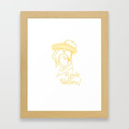 Mercy - You're Welcome! Framed Art Print