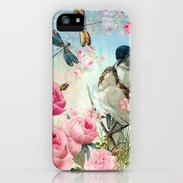 Dragonflies & bird iPhone Case