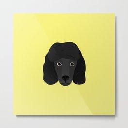 Ellie The Black Poodle Metal Print