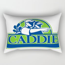 Professional Golfer and Caddie Retro Rectangular Pillow
