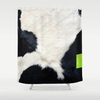 the 100 Shower Curtains featuring 100%  COW by 7535C