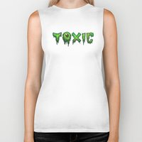 surfer Biker Tanks featuring Toxic Surfer by Joel Hustak
