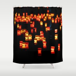 Floating Laterns Shower Curtain