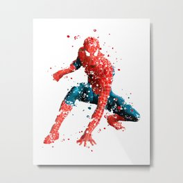 SPIDER-MAN SUPERHERO 2 Metal Print