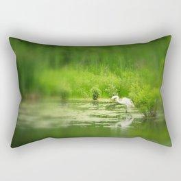 Marsh Egret 2 Rectangular Pillow