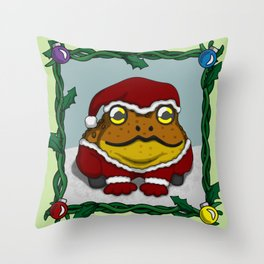 Little Toad Christmas Throw Pillow