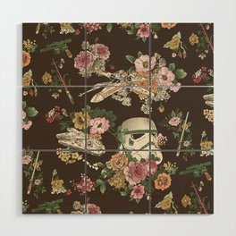 """""""Botanic Wars"""" by Josh Ln Wood Wall Art"""