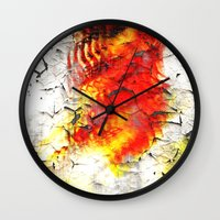 grunge Wall Clocks featuring Grunge by Eleigh Koonce