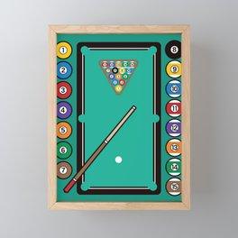 Billiards Table and Equipment Framed Mini Art Print
