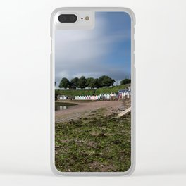 Torquay Corbyn Sands Beach Huts Clear iPhone Case