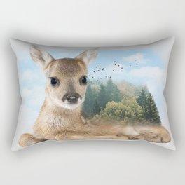 Baby Roe Deer Rectangular Pillow
