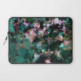 Contemporary Abstract Wall Art in Green / Teal Color Laptop Sleeve