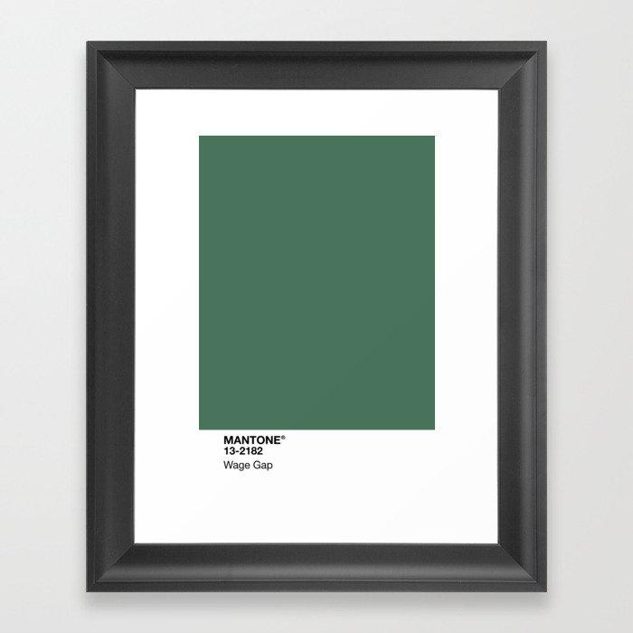 MANTONE® Wage Gap Gerahmter Kunstdruck