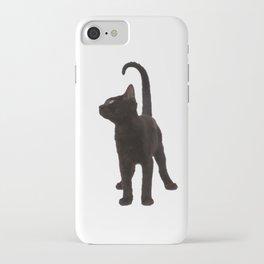 Gato negro iPhone Case
