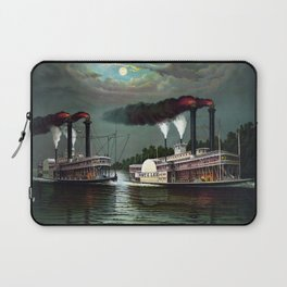 Race Of The Steamers Robert E. Lee and Natchez Laptop Sleeve