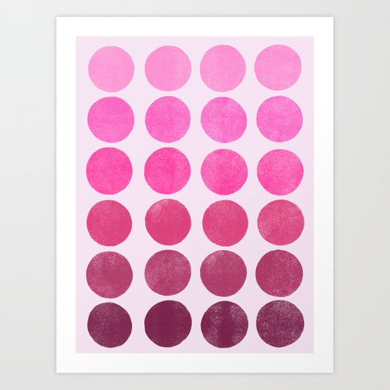 Color Play Pink Art Print