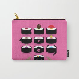Pick yours - vibrant illustrated sushi artwork Carry-All Pouch