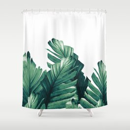 Green Banana Leaves Dream #1 #tropical #decor #art #society6 Shower Curtain