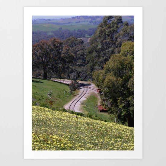 Long & winding Track Art Print