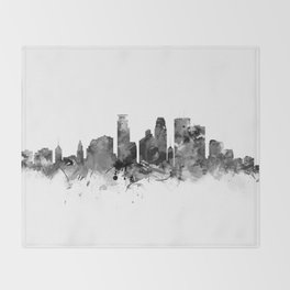 Minneapolis Skyline Throw Blanket