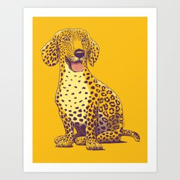 Take a Woof on the Wild Side! Art Print