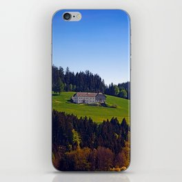 A farm, blue sky and some panorama | landscape photography iPhone Skin