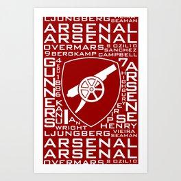 MixWords: Arsenal Art Print