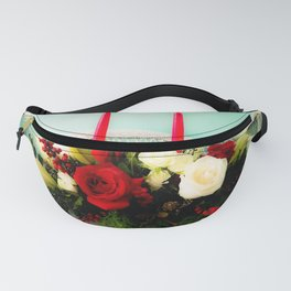 Festive Evening Red Candle Centerpiece Fanny Pack
