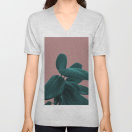 Ficus Elastica #9 #AshRose #decor #art #society6 Unisex V-Neck