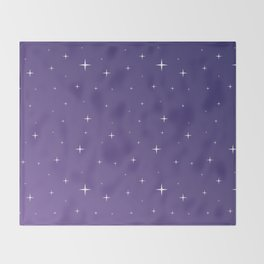Violet Night Throw Blanket