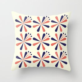 Lime Blossom Throw Pillow
