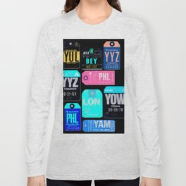 Vintage Inverted Luggage Tags 1 Long Sleeve T-shirt