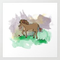 FANCY HORSE Art Print
