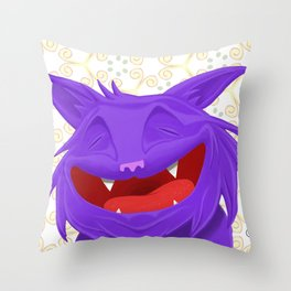 Anselmo the fat violet cat Throw Pillow