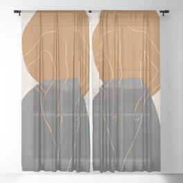 Line Female Figure 82 Sheer Curtain