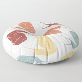 Snail With Vintage Color Floor Pillow