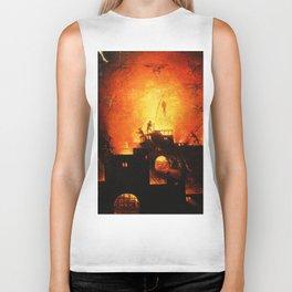 The flaming infurno Biker Tank