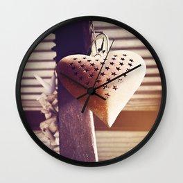 Hanging heart Wall Clock