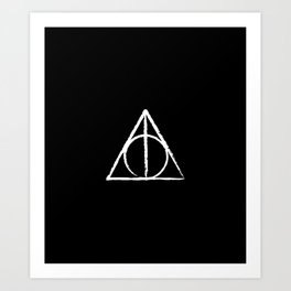 The Sign of the Deathly Hallows Art Print