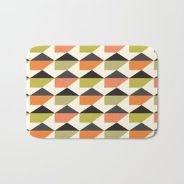 Geometric Pattern #104 (orange pink green Bath Mat