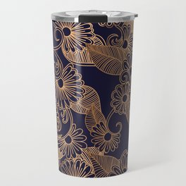 Flower Golden Travel Mug