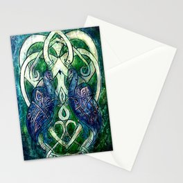 Celtic Peacocks Stationery Cards